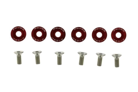 Śrubki z podkładkami uniwersalne JDM 8mm red - GRUBYGARAGE - Sklep Tuningowy